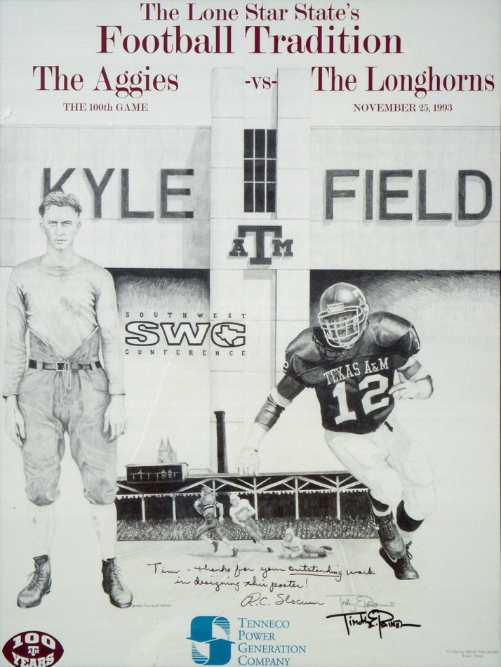 100th A&M UT Game Poster