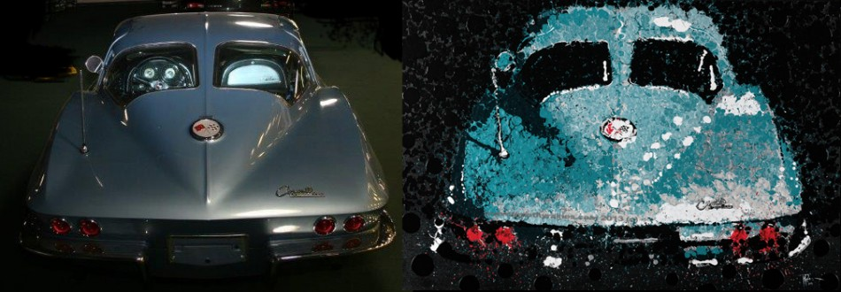 Corvette 63 painting and car